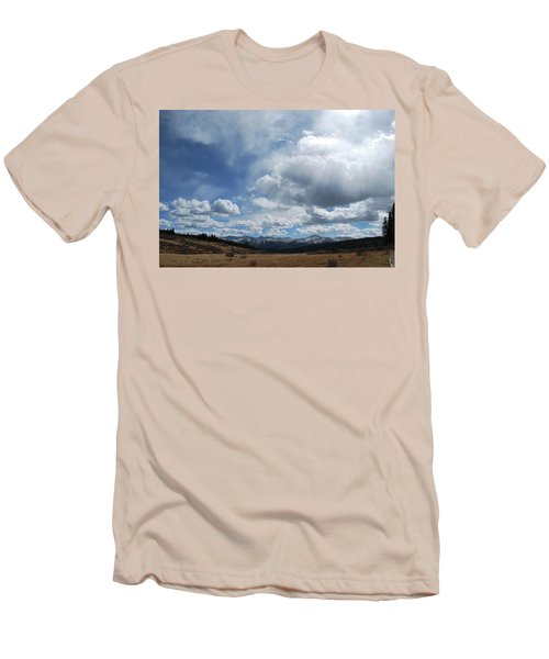 Men's T-Shirt (Athletic Fit) featuring the photograph Sky Of Shrine Ridge Trail by Amee Cave