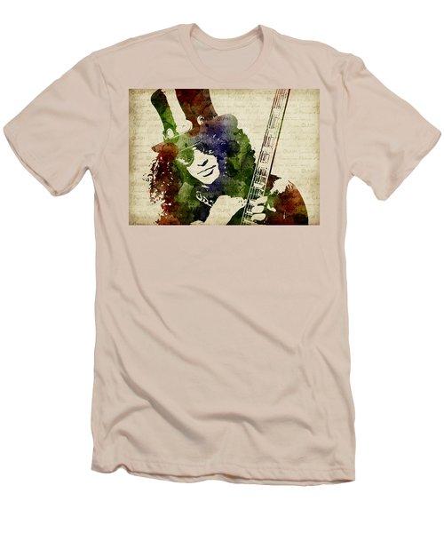 Slash Watercolor Men's T-Shirt (Athletic Fit)
