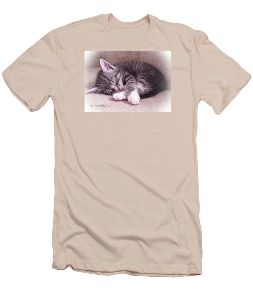 Sleepy Kitten Bymaryleeparker Men's T-Shirt (Athletic Fit)
