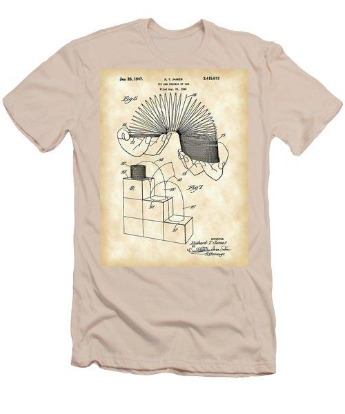 Slinky Patent 1946 - Vintage Men's T-Shirt (Slim Fit) by Stephen Younts