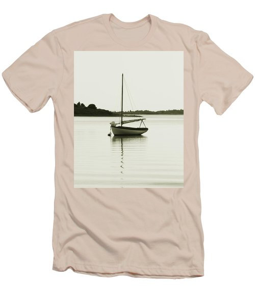 Men's T-Shirt (Slim Fit) featuring the photograph Sloop At Rest  by Roupen  Baker