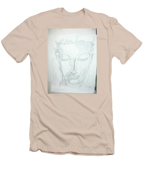 Men's T-Shirt (Slim Fit) featuring the drawing Slumbering Buddha by Sharyn Winters
