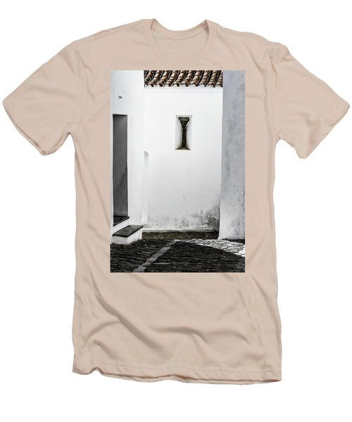 Men's T-Shirt (Slim Fit) featuring the photograph Small Window In White Wall by Edgar Laureano