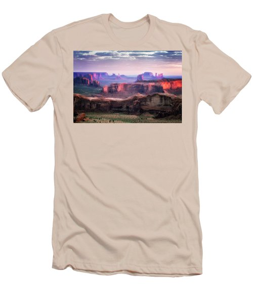 Smooth Sunset Men's T-Shirt (Slim Fit) by Nicki Frates