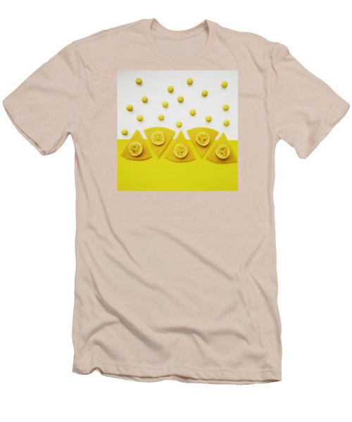 Yellow Snack Men's T-Shirt (Slim Fit)