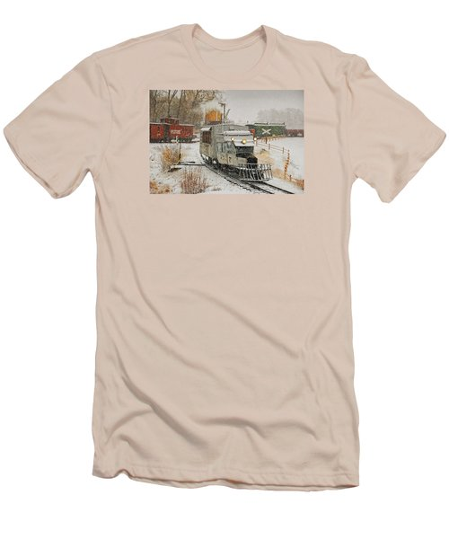 Men's T-Shirt (Slim Fit) featuring the photograph Snow Goose by Ken Smith