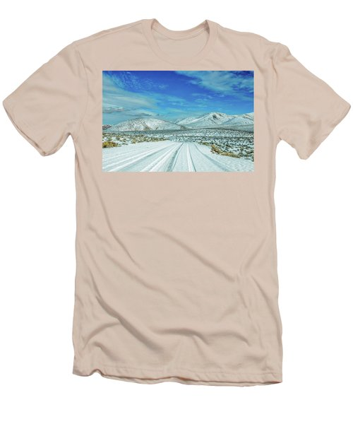 Men's T-Shirt (Slim Fit) featuring the photograph Snow In Death Valley by Peter Tellone