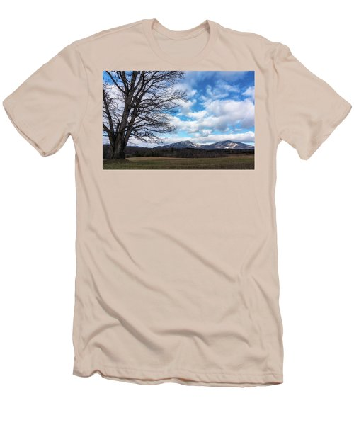 Snow In The High Mountains Men's T-Shirt (Slim Fit) by Steve Hurt