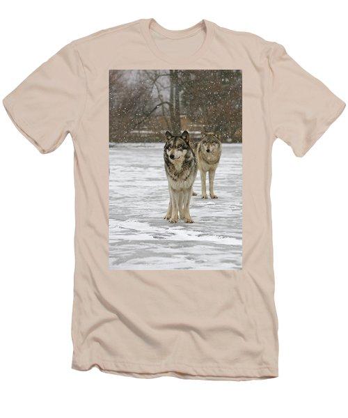 Men's T-Shirt (Slim Fit) featuring the photograph Snow Mates by Shari Jardina