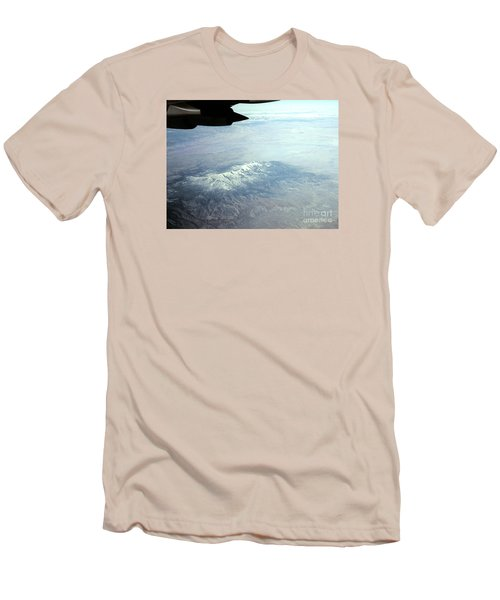 Snow On The Mountains Flying To Alaska Men's T-Shirt (Slim Fit) by Merton Allen