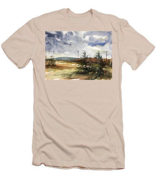Snow Sky In Fall Men's T-Shirt (Athletic Fit)