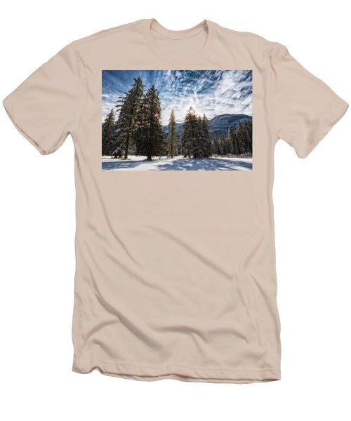 Snowy Clouds Men's T-Shirt (Slim Fit) by Charlie Duncan