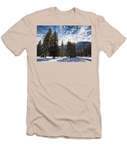 Snowy Clouds Men's T-Shirt (Slim Fit)