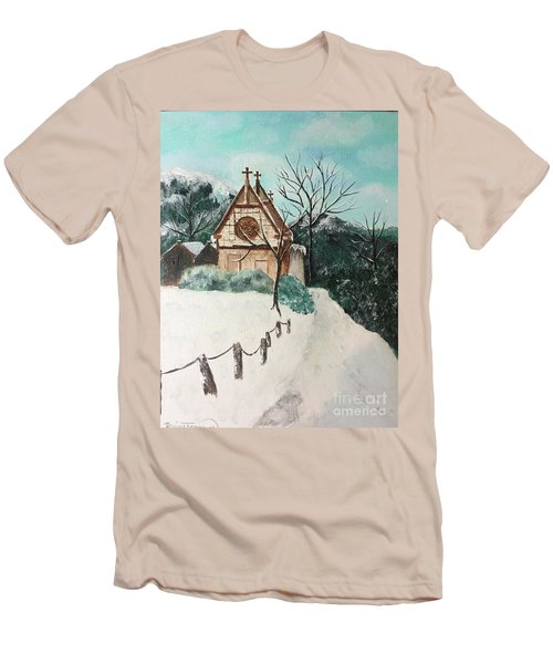 Men's T-Shirt (Athletic Fit) featuring the painting Snowy Daze by Denise Tomasura
