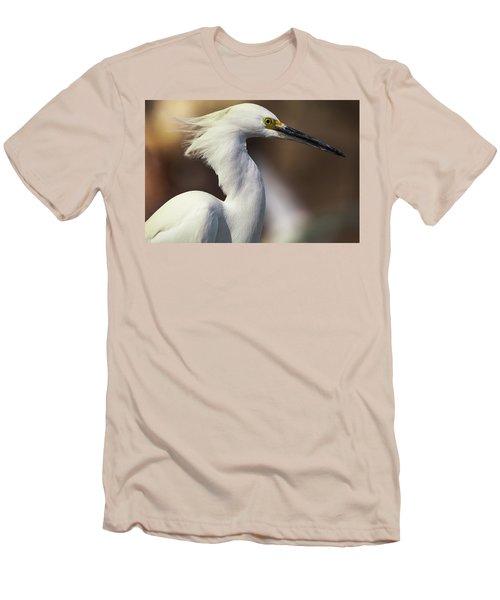 Snowy Egret Men's T-Shirt (Slim Fit) by Jason Moynihan