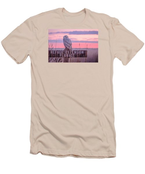 Snowy In The Meadow Men's T-Shirt (Athletic Fit)