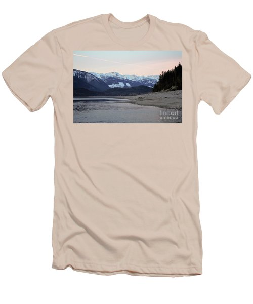 Men's T-Shirt (Slim Fit) featuring the photograph Snowy Mountains by Victor K