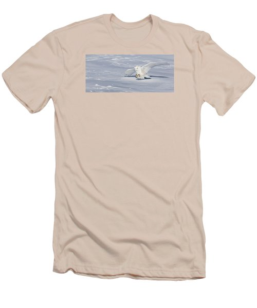 Men's T-Shirt (Slim Fit) featuring the photograph Snowy Owl by Dan Traun