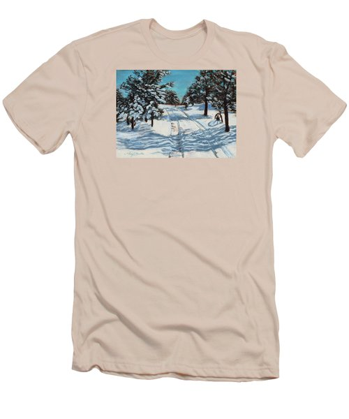 Snowy Road Home Men's T-Shirt (Athletic Fit)