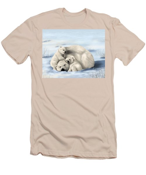 Men's T-Shirt (Slim Fit) featuring the painting So Much Love by Veronica Minozzi