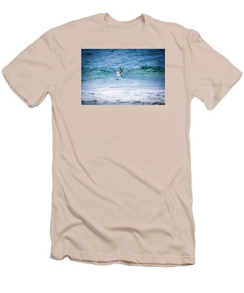 Soaring Over The Ocean Men's T-Shirt (Slim Fit) by Shelby Young