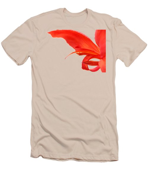 Softly Red Canna Lily Men's T-Shirt (Athletic Fit)
