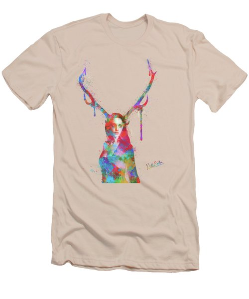 Song Of Elen Of The Ways Antlered Goddess Men's T-Shirt (Athletic Fit)