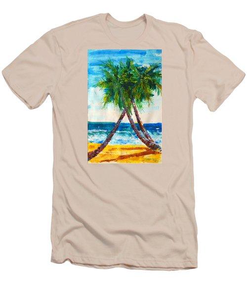 South Beach Palms Men's T-Shirt (Athletic Fit)