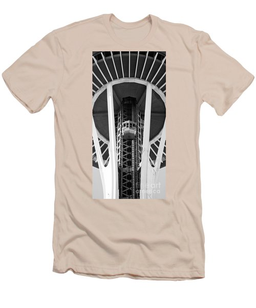 Men's T-Shirt (Slim Fit) featuring the photograph Space Needle Seattle by Chris Dutton