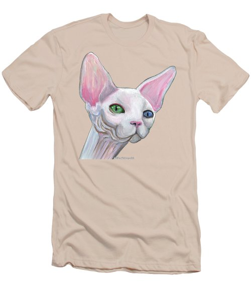 Sphynx2 Men's T-Shirt (Slim Fit) by Akiko Okabe