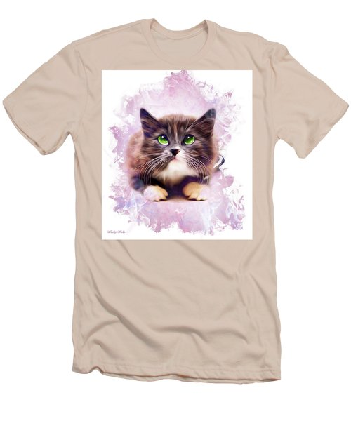 Spice Kitty Men's T-Shirt (Slim Fit) by Kathy Kelly
