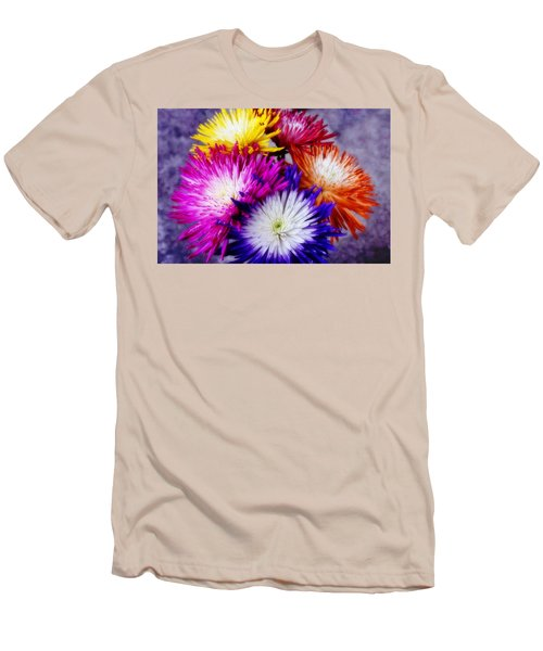 Spider Mums Men's T-Shirt (Slim Fit) by Joan Bertucci