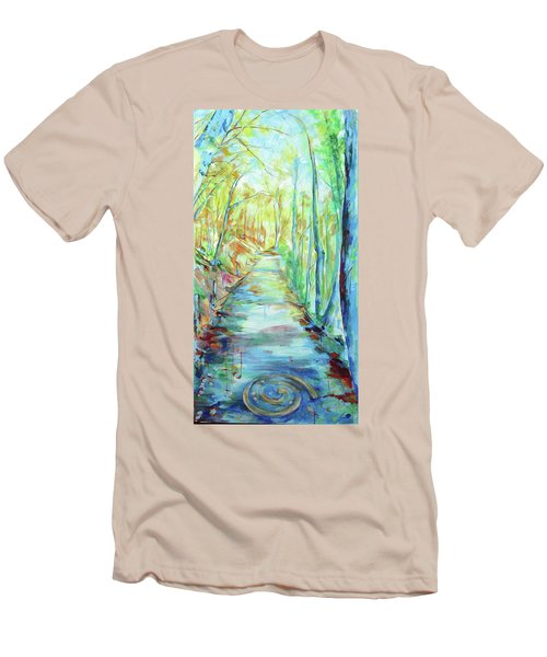 Men's T-Shirt (Slim Fit) featuring the painting Spirale - Spiral by Koro Arandia