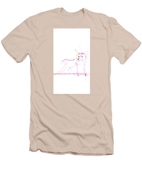Spirit Animal . Ghost Fox Men's T-Shirt (Slim Fit) by John Jr Gholson