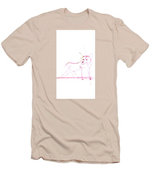 Spirit Animal . Ghost Fox Men's T-Shirt (Athletic Fit)