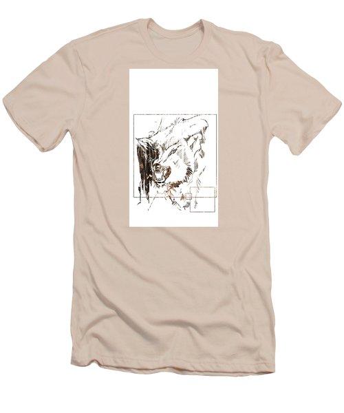 Spirit Animal . Wolf Men's T-Shirt (Slim Fit) by John Jr Gholson