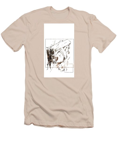 Spirit Animal . Wolf Men's T-Shirt (Athletic Fit)