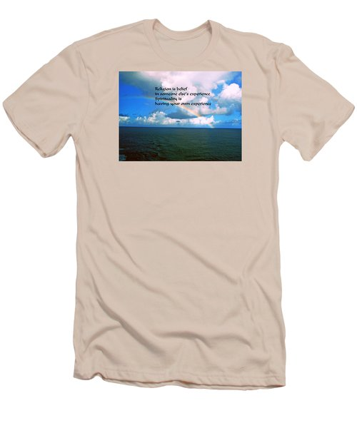 Men's T-Shirt (Slim Fit) featuring the photograph Spiritual Belief by Gary Wonning