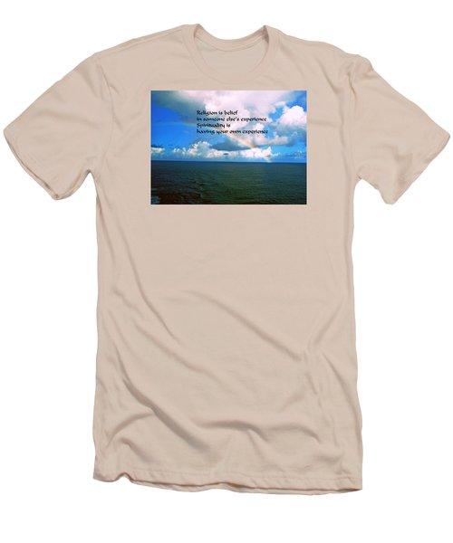 Spiritual Belief Men's T-Shirt (Slim Fit) by Gary Wonning