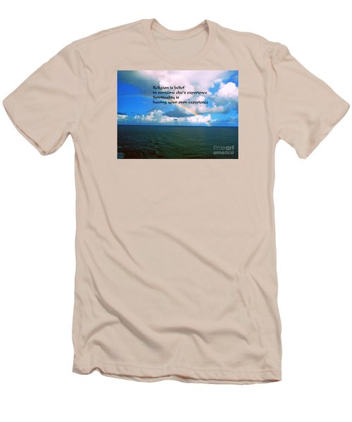 Men's T-Shirt (Slim Fit) featuring the photograph Spirituality by Gary Wonning