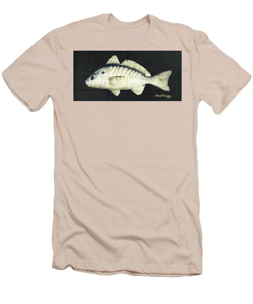 Men's T-Shirt (Slim Fit) featuring the painting Spot by Stan Tenney