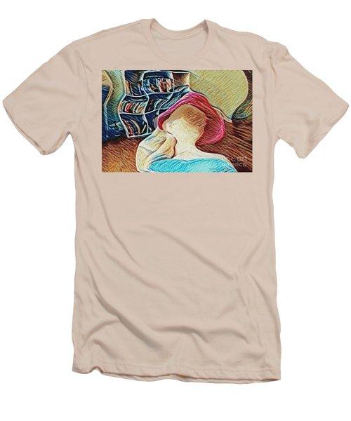Spring Bonnet Men's T-Shirt (Slim Fit) by Kathie Chicoine