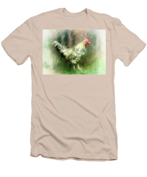 Men's T-Shirt (Slim Fit) featuring the digital art Spring Chicken by Lois Bryan