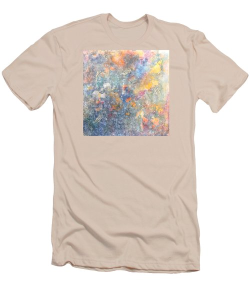 Spring Creation Men's T-Shirt (Slim Fit) by Theresa Marie Johnson
