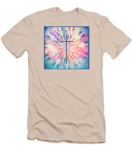 Men's T-Shirt (Slim Fit) featuring the photograph Spring Cross by Geraldine DeBoer