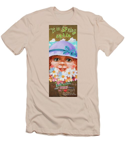 Men's T-Shirt (Slim Fit) featuring the painting Spring by Igor Postash