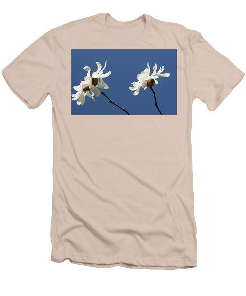 Spring Magnolias Men's T-Shirt (Slim Fit) by Haleh Mahbod