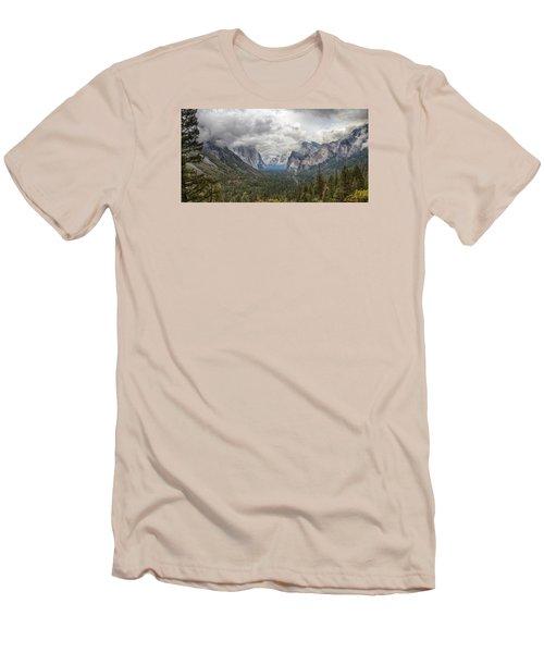 Spring Storm Yosemite Men's T-Shirt (Slim Fit) by Harold Rau