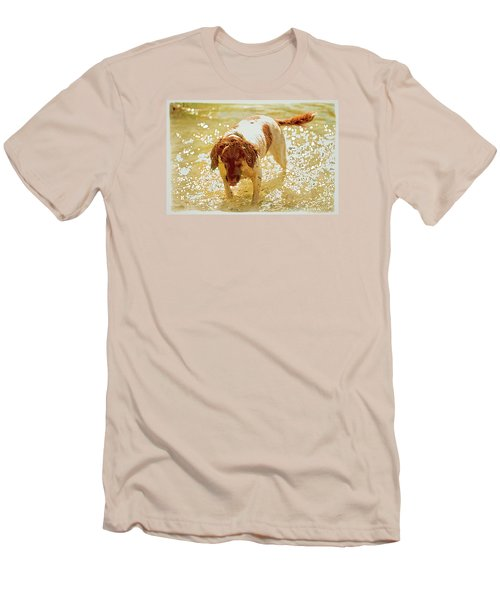 Men's T-Shirt (Slim Fit) featuring the photograph Springer Wc by Constantine Gregory