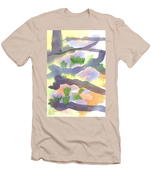 Men's T-Shirt (Slim Fit) featuring the painting Springtime Wildflower Camouflage  by Kip DeVore